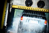stock photo of pressure-wash  - Touchless Automatic Car Wash - JPG
