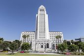 LOS ANGELES, CALIFORNIA - June 28, 2014:  Editorial view of the historic art deco city of Los Angele