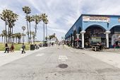 LOS ANGELES, CALIFORNIA - June 20, 2014:  View of Southern California's famously funky Venice Beach