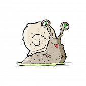 stock photo of slug  - cartoon gross slug - JPG
