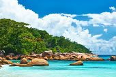 Beautiful beach at Seychelles, Praslin, Anse Lazio