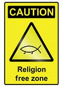 Religion free hazard Sign