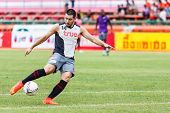 Sisaket Thailand-june 29: Romain Gasmi Of Bangkok Utd. In Action During A Training Ahead Thai Premie