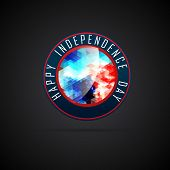 stylish happy independence day illustration