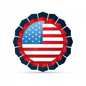 vector american flag design illustration