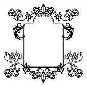 Frame With Floral Ornament And Gargoyles