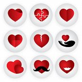 stock photo of heartbreak  - heart vector icon indicating love togetherness romance passion - JPG