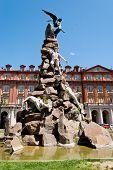Piazza Statuto, Fontana Del Frejus, Torino, Italy