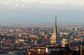 Torino (turin), Panorama With Cappuccini And Mole