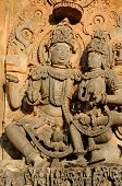 foto of karnataka  - Detail on the wall Chennakesava Temple in the town Hassan in the Karnataka state India - JPG