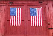 pair of american flags