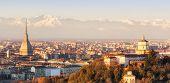 Turin (torino), Panorama At Sunset