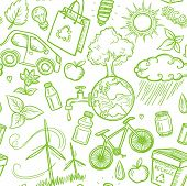 Doodles eco icon seamless