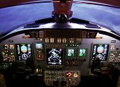 stock photo of cessna  - Instrument panel of a Cessna Citation Excel - JPG