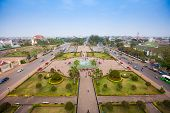 View Of Vientiane From Victory Gate Patuxai, Laos, Southeast Asia