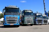 Row Of New Euro 6 Volvo FH Trucks