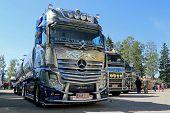 Mercedes-Benz Actros Xtar Tanker Truck In A Show