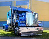 Blue Kenworth Show Truck Tractor