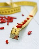 Goji Berries And Tape Measure, Concept Of Health, Soft Focus