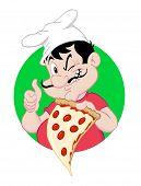 Pizza Guy Holding A Slice