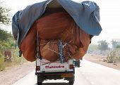 Mahindra Pickup Truck Overloaded.