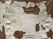 rusty tin ceiling tile