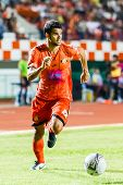 Sisaket Thailand-june 29: Victor Amaro Of Sisaket Fc. (orange) In Action During Thai Premier League
