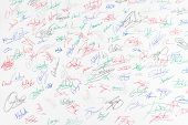 Signature On White Paper