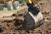 picture of power-shovel  - large Mechanical shovel in close up detail - JPG