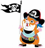 Cartoon Hamster Pirate
