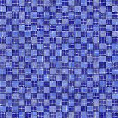 3d square abstract mosaic blue tile pattern