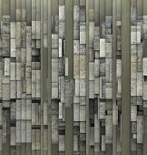 3D Fragmented Gray Abstract Grunge Pattern Backdrop