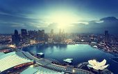 pic of singapore night  - Singapore city in sunset time - JPG