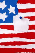 American Flag As Paper Background With Copyspace