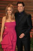 LOS ANGELES - MAR 2:  Kelly Preston, John Travolta at the 2014 Vanity Fair Oscar Party at the Sunset Boulevard on March 2, 2014 in West Hollywood, CA