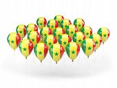 Balloons With Flag Of Senegal