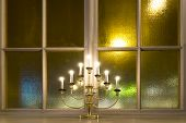 Candlestick On Window Ledge