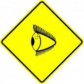 eye side-view sign