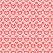 Seamless red and pink heart background