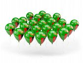 Balloons With Flag Of Zambia