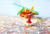 Burgos  ,spain Map Airplane