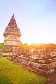 Ancient hindu temple of Prambanan in the city of Yogyakarta,  Java Indonesia.