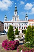 Main Square And Town Hall, Ceske Budejovice, Czech Republic