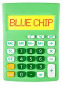 Calculator With Blue Chip On Display
