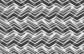 Black And White Zig Zag Seamless Pattern