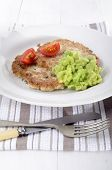 Potato Pancake With Mushy Pea