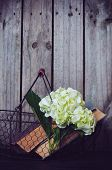Flowers And Vintage Books