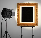 Spotlit Picture Frame