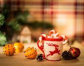insulated wool cloth mug with