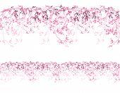 pic of sakura  - spring cherry tree horizontally seamless border  - JPG